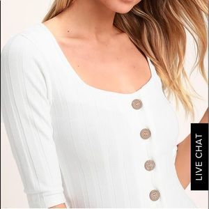 Free People Central Park White Cardigan Sweater